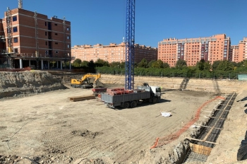 BEGINING OF THE CONSTRUCTION OF THE RESIDENCE FOR THE ELDERLY IN THE PAU CARABANCHEL